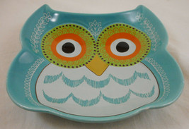Bead Landing Trinket Dish Owl Key Holder Blue Ceramic - $5.93