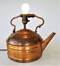 antique COPPER KETTLE converted ELECTRIC LAMP aafa kitchen primitive cou... - €81,51 EUR