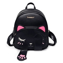 Kute Cat Teenage Girl PU Leather Mini small Backpack pretty Book shoulde... - $38.99