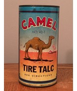 Vintage Camel Brand Tire Talc Container Automotive Transportation Collec... - $13.83