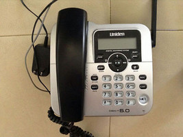 Uniden D1688 2 main charger base wPSU - 6.0 GHz cordless phone wireless remote - $35.60