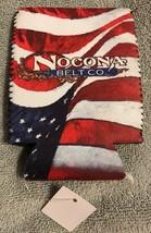 NWT Nocona Belt Co. Western Advertising Drink Holder Beer Can Koozie Pat... - $12.72