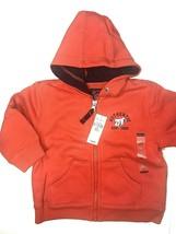 The Children's Place Sweatshirt Jacket Hoodie Boys 18 Months Zip Up Hood ORANGE - $12.30