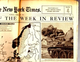 The New York Times, sunday April 22, 1945, The News of the Wek In Review - $3.95