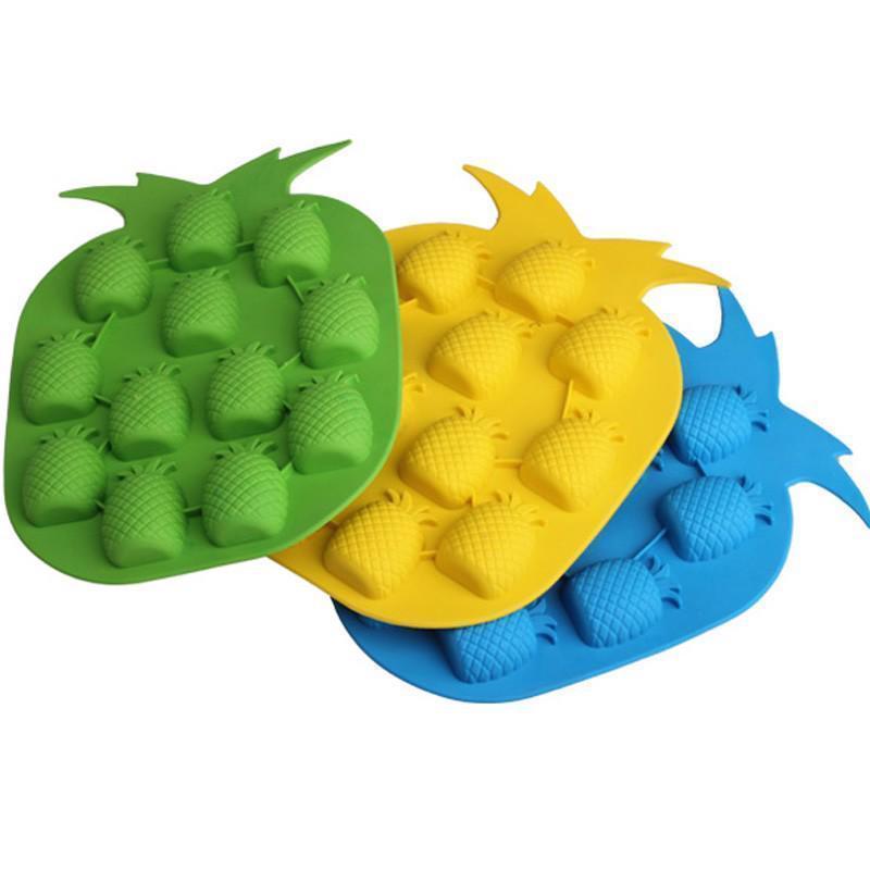 Ice Cube Mold Pineapple Shape Ice Cream Freeze Tray Summer Party Bar Drink Decor