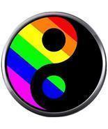 Rainbow Yin &Yang Peace Gay Lesbian Transgender Pride LGBTQ 18MM-20MM Sn... - £4.23 GBP