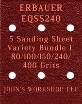 ERBAUER EQSS240 - 80/100/150/240/400 Grits - 5 Sandpaper Variety Bundle I - $7.53