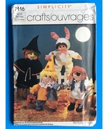 Vintage DOLL Clothes Pattern SIMPLICITY #7116 HALLOWEEN Costumes PRECIOU... - $11.88