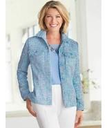 Drapers & Damons Jacket Sunday Brunch Tweed Jacket Blue Size PM - $62.99