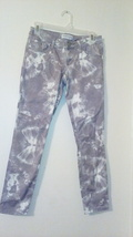 womens Express jeans gray & white sz 0 vmh184 - $15.85