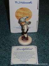"""""""March Winds"""" Goebel Hummel Figurine #43/5/0 TMK7 Boy On Windy Day MINT ... - $115.43"""