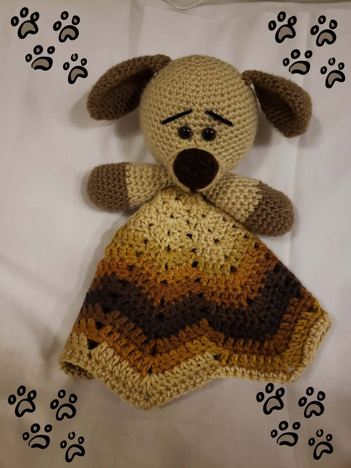 Handmade Crochet Dog Lovey Blanket
