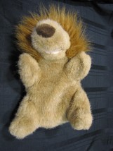 COMMONWEALTH STUFFED PLUSH HAND PUPPET HUG A PLUSH 1989 TAN BROWN LION - $47.02