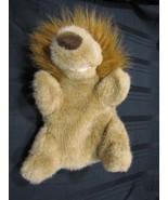 COMMONWEALTH STUFFED PLUSH HAND PUPPET HUG A PLUSH 1989 TAN BROWN LION - $49.49