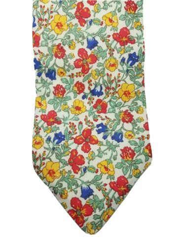 Primary image for Breuer men's floral 100% cotton hand made in France tie