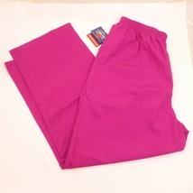 Cherokee Workwear LARGE PETTITE Dark Pink 2 Pocket Elastic Pull-On SCRUB... - $10.77