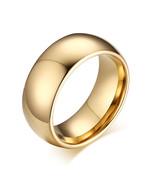14K Y Gold Plated Tungsten Carbide Dome Wedding Band Men Women Comfort F... - $9.95