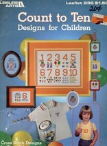 Count To Ten - Designs for Children LA236 Cross Stitch Pattern Leaflet - $2.22