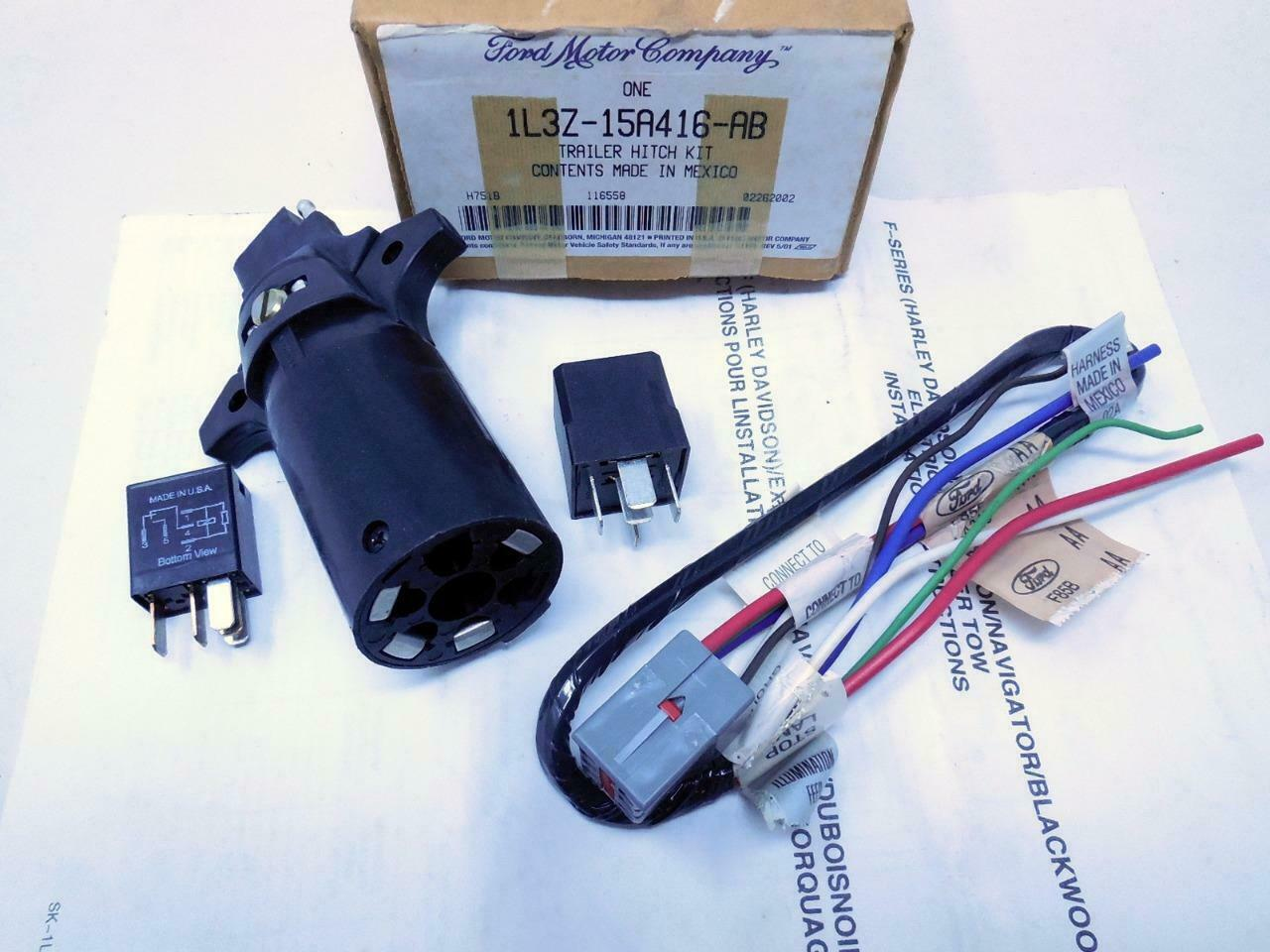 Primary image for NEW OEM FORD F-150 Trailer Hitch Wiring Harness Kit 1L3Z15A416AB SHIPS TODAY