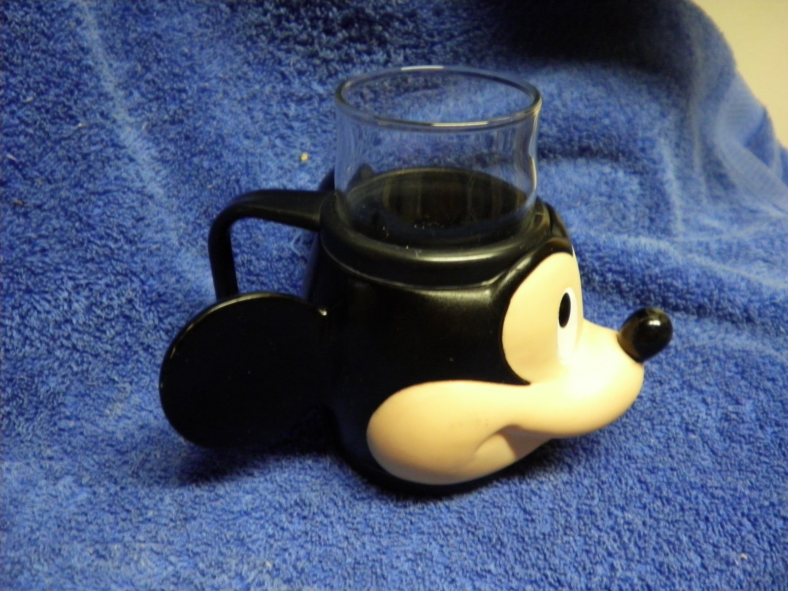 APPLAUSE MICKEY MOUSE GLASS W HARD PLASTIC OUTSIDE MICKEY