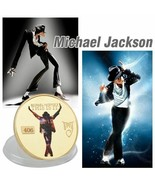 Pocker Michael Jackson Coin Plated King Pop Commemorative Europe Charact... - $5.92