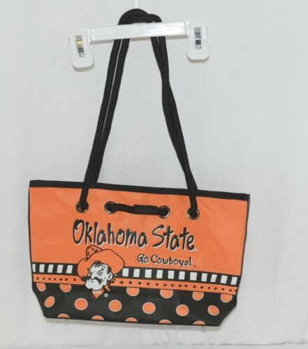 Oklahoma State University Black Orange White Bucket Type Purse Go Cowboys