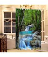 180x200cm Landscape Waterfall Style Shower Curtain Withhooks Bathroom Di... - $25.00