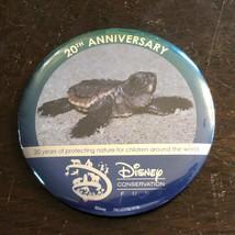 Walt Disney World 20th Anniversary Conservation fund button pinback pin ... - $10.40
