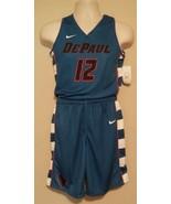Nike Depaul Blue Demons Medium Boys Youth Jersey/Shorts Reversible Uniform - $71.99