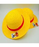 Japanese Anime Cosplay Straw Hats One Piece Luffy Hat Cartoon Cap Cute S... - £8.72 GBP