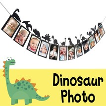 LINGTEER Dinosaur Party Happy Birthday Banner Sweet 1st Baby Shower Baby... - $20.69