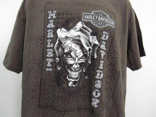 Harley Davidson T Shirt Mens Extra Large XL Brown Fond Du Lac Wisconsin image 2