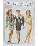 NEW LOOK Vintage Pattern #6924 Fitted Mini Dress Jacket Blazer Size 8-18... - $14.02
