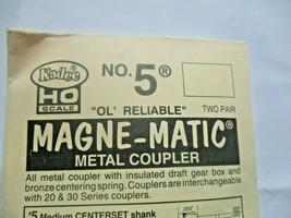 Kadee #5 Metal Coupler Medium Centerset Shank 2 Pair HO Scale image 2