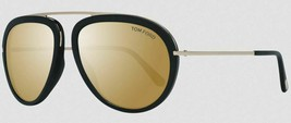 Tom Ford STACY 452 02G Matte Black / Gold Mirrored Sunglasses TF452 02G ... - $195.02