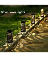 Solar Lawn Light Decoration Garden Hollow Lawn Lamp Outdoor Soalr Garden - $10.89+