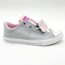 Converse CTAS Maddie Slip Wolf Grey Pink Foam White Kids Shoes 665988F - $44.95