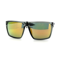 KUSH Sunglasses Slate Gray Square Flat Top Frame Color Mirror Lens - $7.87+