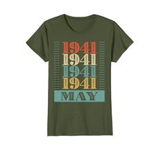Funny Shirts - Retro Classic Vintage May 1941 77th Birthday Gift 77 yrs old Wowe image 2