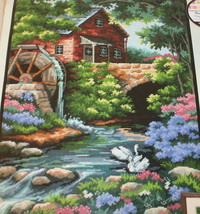 Old Mill Cottage Dimensions 2484 Needlepoint Kit Violet Schwenig Opened ... - $24.70