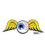 Eye Ball with Wings shaped vinyl Window sticker 20x7cm skate decal emo V... - $3.98