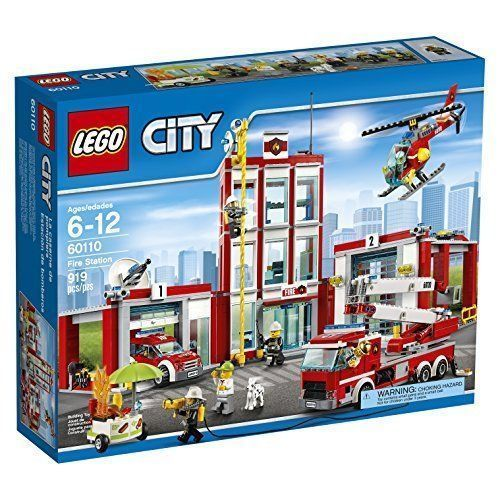 Brand New LEGO City Fire Station Set 60110 [New] Building Toy Kit