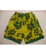 Boys Yellow And Green Jamaica Swiming Trunks Size 10-12 TBL Swimwear - $11.98