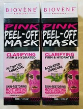 Biovene Pink Peel-Off Facial Mask Clarifying Firm and Hydrated 1.7oz Exp... - $14.30