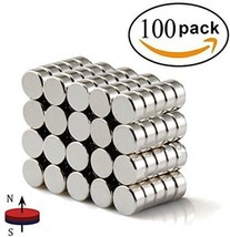 FINDMAG 100Pieces 6X3mm Premium Brushed Nickel Pawn Style Magnetic Push ... - $27.89