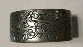 Vintage  December Salisbury Pewter Cuff Bracelet a Vintage Pewter Cross - $25.38