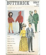 """BUTTERICK 3317 SEWING PATTERN UNCUT 11-1/2"""" Fashion Doll DOLL CLOTHES - $19.49"""