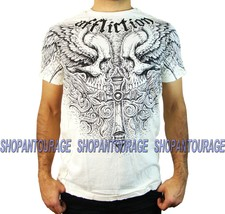 Affliction Power Tour A14073 New Graphic Fashion Short Sleeve T-shirt for Men - $43.95