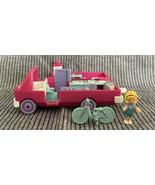 Vintage 1994 Polly Pocket RV Home On the Go Pink Camper Bike Doll - $24.99