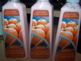 Lot of 3 Bath & Body Works Sweet Cinnamon Pumpkin Moisturizing Hand Lotion 8 Fl